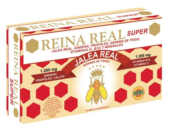 REINA REAL, JALEA REAL SUPER 20 AMPOLLAS 10ML ROBIS