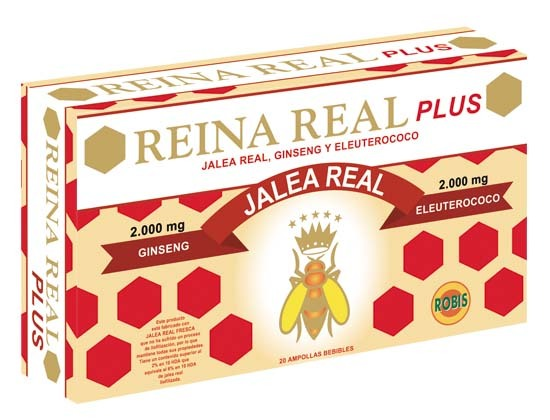 REINA REAL, JALEA REAL PLUS 20 AMPOLLAS 10ML ROBIS