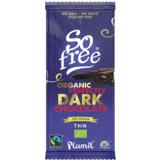 SO FREE CHOCOLATE AL CACAO INTENSO 72%  80GR SIN AZUCAR