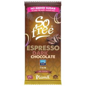SO FREE CHOCOLATE EXPRESO INTENSO 72% 80GR SIN AZUCAR