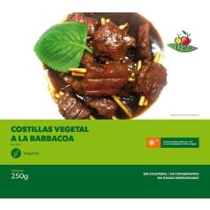 CONGELADO COSTILLAS VEGANAS A LA BARBACOA 250 GR. VEGESAN