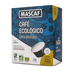 BIO CAFÉ CÁPSULA DESCAFEINADO 50 g  (16 Cáps. Dolce Gusto)