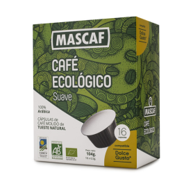 BIO CAFÉ CÁPSULA SUAVE 50 g  (16 Cáps. Dolce Gusto)