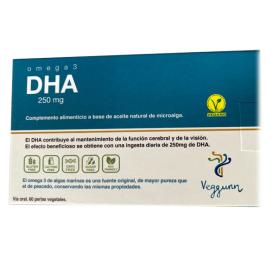 OMEGA 3 DHA 60 Perlas 250mg VEGGUNN
