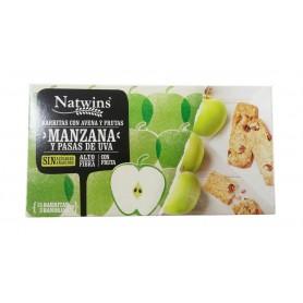 natwins barr cer manzana y pasas de uva 150gr