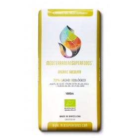msf chocolate negro 72 con aceite de oliva y flor de sal 100 gr