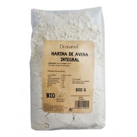 harina avena bio integral 500gr drasanvi