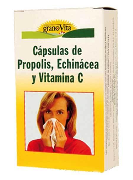 CAPSULAS  PROPOLIS VITAMINA  C Y ECHINACEA 75CAPS GRANOVITA en Biovegalia