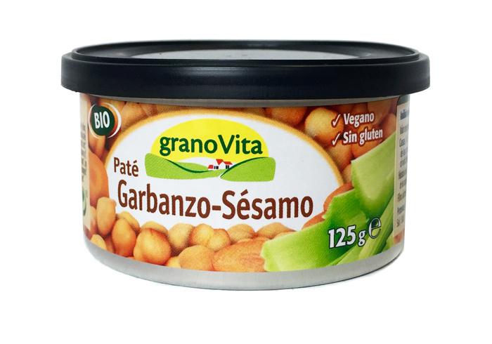 PATE GARBANZO SESAMO BIO LATA 125GR GRANOVITA en Biovegalia