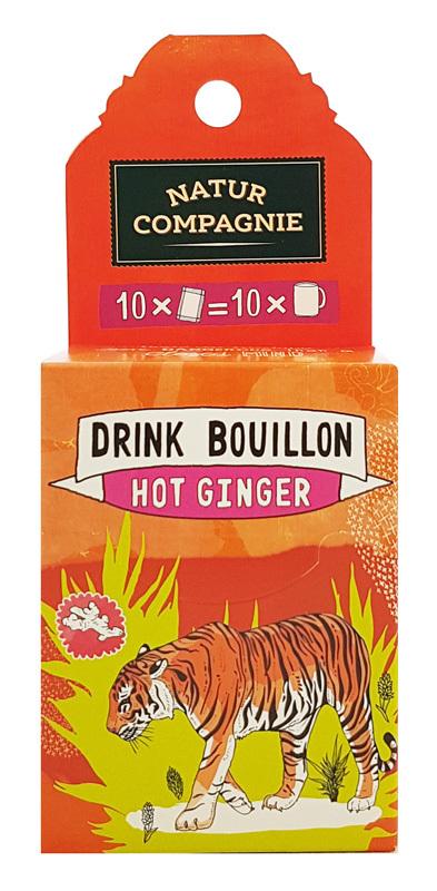 DRINK BOUILLON HOT GINGER (JENGIBRE) BIO 50 GR NATUR COMPAGNIE en Biovegalia