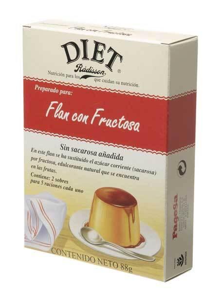 FLAN CON FRUCTOSA  88GR