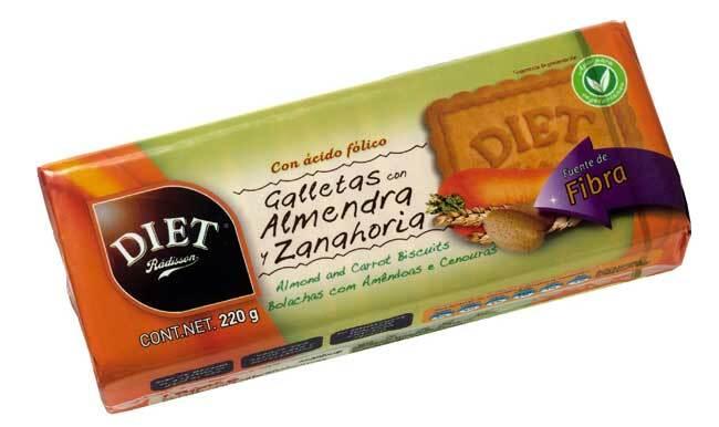 GALLETAS ALMENDRA ZANAHORIA 220GR DIET RADISSON en Biovegalia