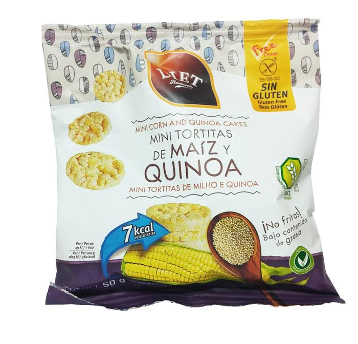 MINI TORTITAS DE MAIZ  Y QUINOA SIN GLUTEN 50 GR DIET RADISSON en Biovegalia