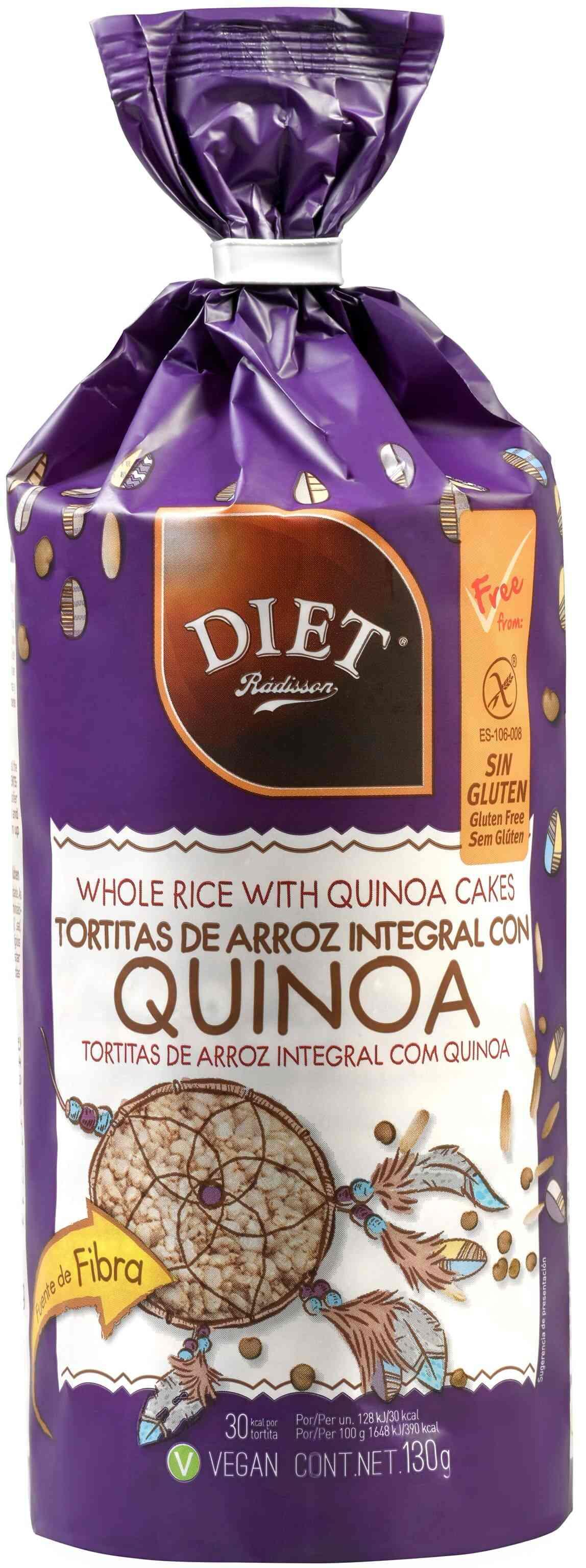 TORTITAS DE ARROZ  Y QUINOA SIN GLUTEN 130 GR DIET RADISSON en Biovegalia
