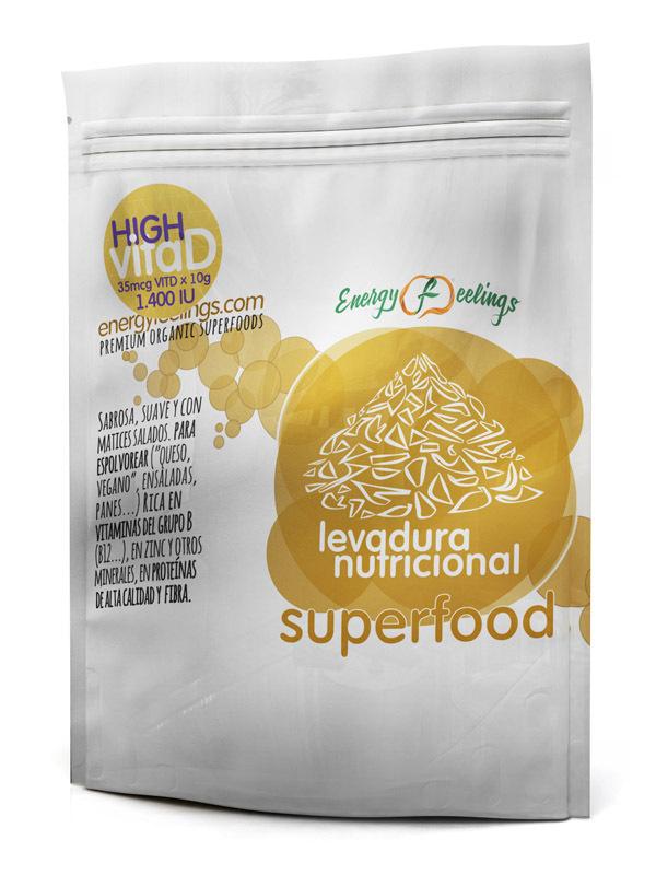 LEVADURA NUTRICIONAL High VitaD Copos: (75 gr) DOYPACK ENERGYFRUITS en Biovegalia