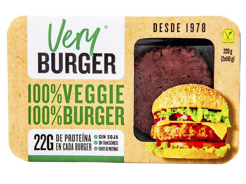VERY BURGUER (hamburguesa vegana) 220 g DELATIERRA en Biovegalia