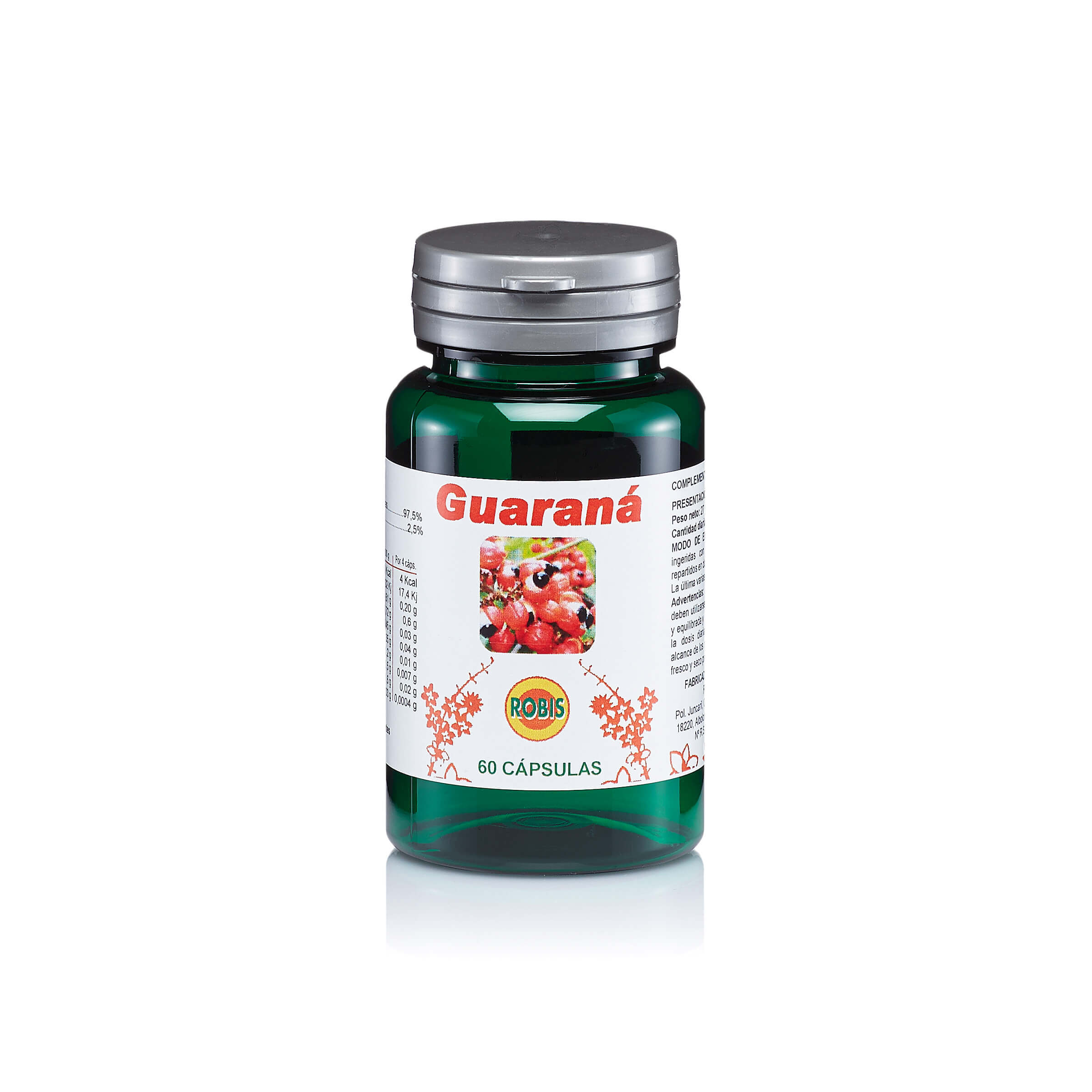 GUARANA 50CAPS 450MG ROBIS en Biovegalia