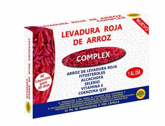 LEVADURA ROJA DE ARROZ 500MG 40CAPS ROBIS en Biovegalia
