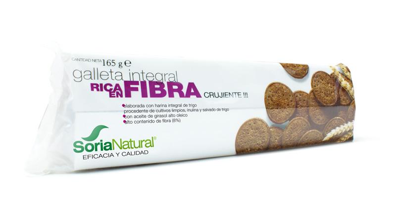 GALLETA INTEGRAL RICA EN FIBRA 165 GR SORIA NATURAL en Biovegalia