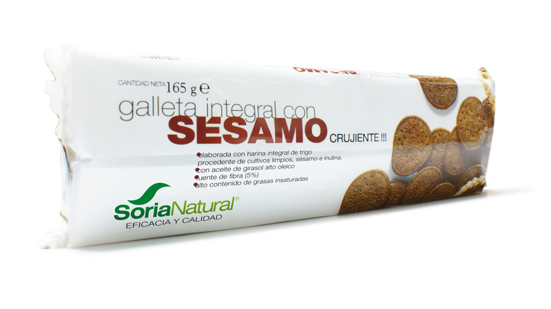 GALLETA INTEGRAL CON SESAMO 165 GR