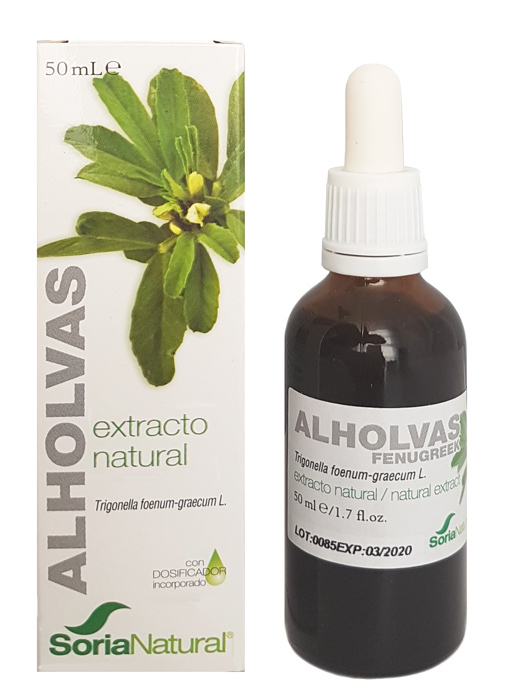 EXTRACTO DE ALHOLVAS 50 ML SORIA NATURAL en Biovegalia
