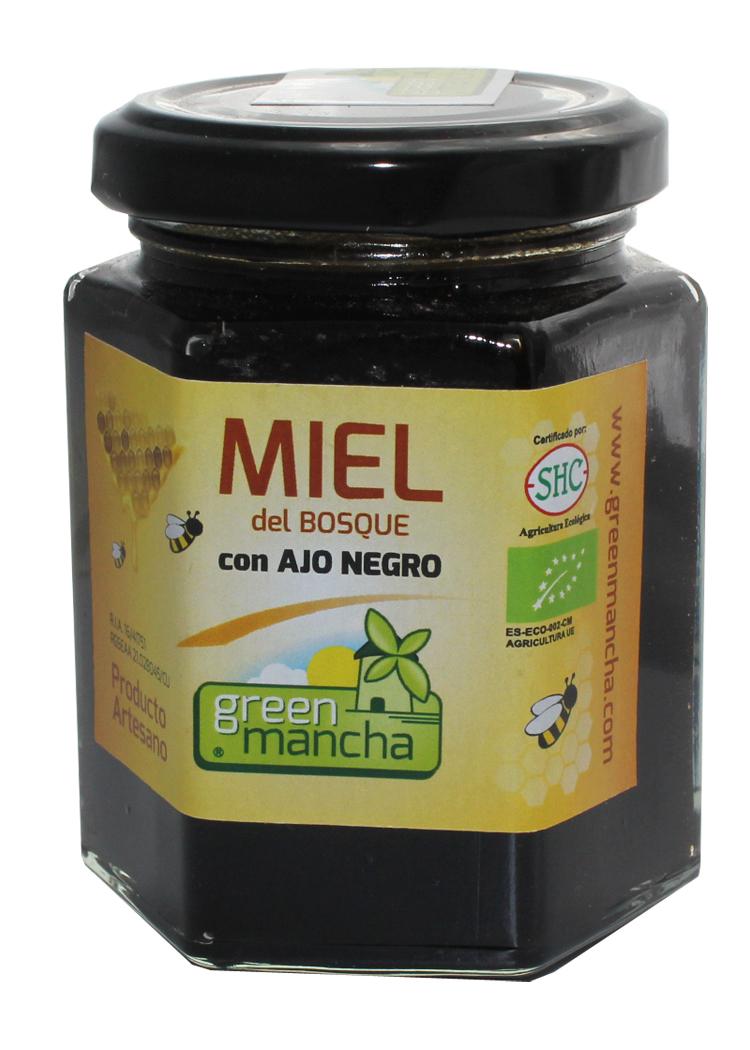 MIEL CON AJO NEGRO   240 GR GREEN MANCHA en Biovegalia
