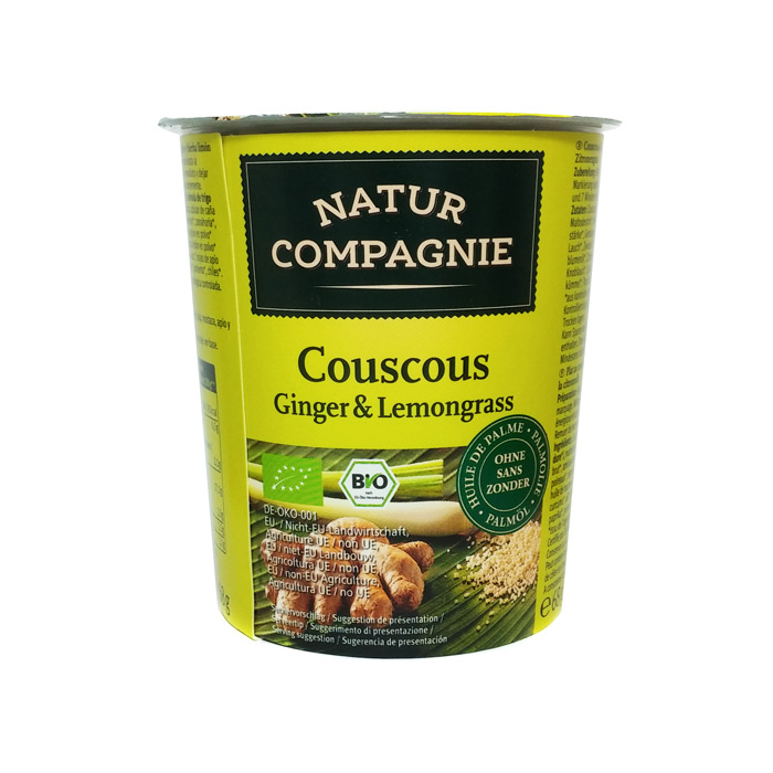 COUSCOUS GINGER-LEMONGRASS INST. BIO g VASO