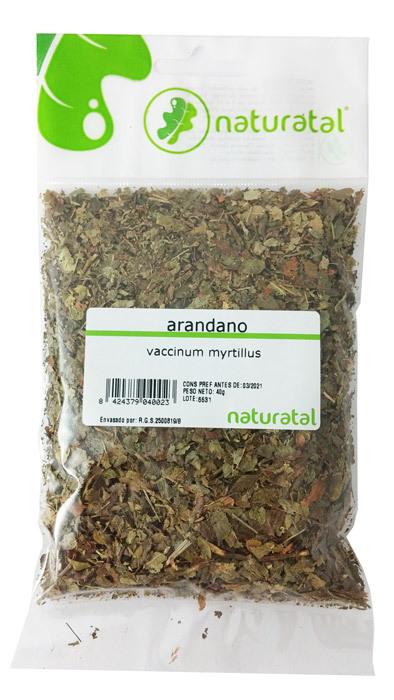 ARANDANO HOJAS (Vaccinium myrtillus) 40GR NATURATAL en Biovegalia