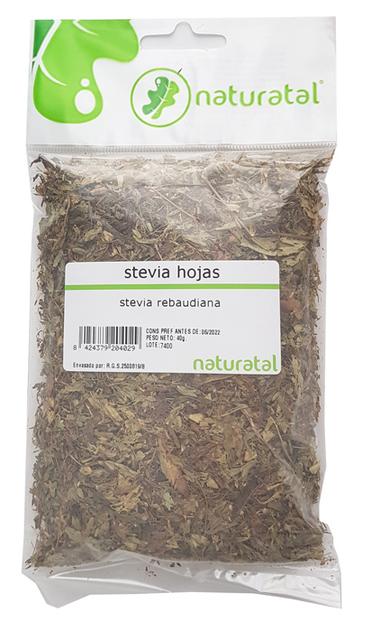 STEVIA HOJA TRITURADA 40GR  NATURATAL en Biovegalia