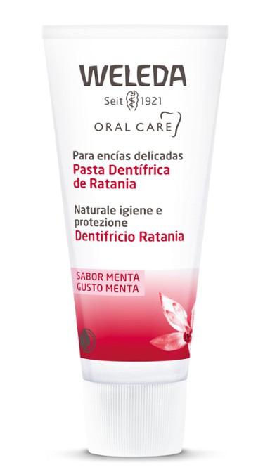 PASTA DENTIFRICA DE RATANIA 75ML WELEDA en Biovegalia