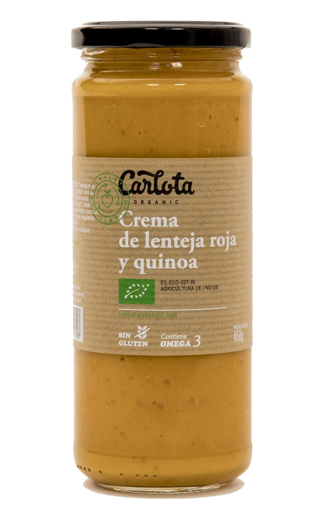 CREMA DE LENTEJA ROJA Y QUINOA 450g