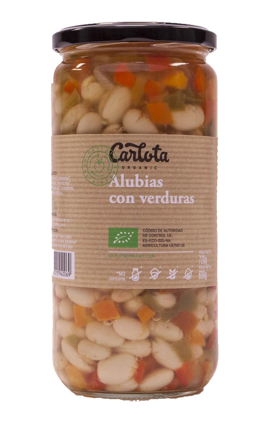 ALUBIAS CON VERDURAS 720gr CARLOTA ORGANIC en Biovegalia
