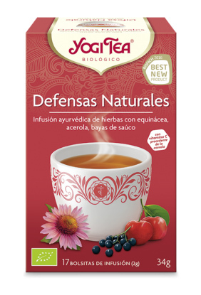 YOGI TEA DEFENSAS NATURALES BIO 17 BOLSITAS en Biovegalia
