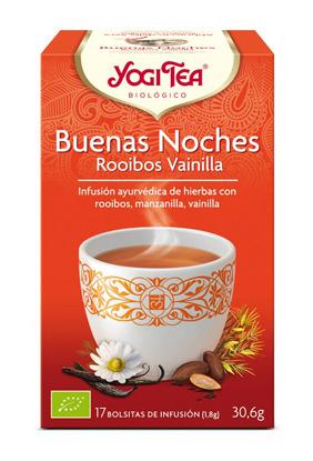 YOGI TEA BUENOS SUEÑOS ROOIBOS VAINILLA BIO 17 BOLSITAS YOGI TEA en Biovegalia