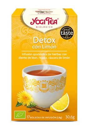 YOGI TEA DETOX LIMON BIO 17 BOLSITAS YOGI TEA en Biovegalia