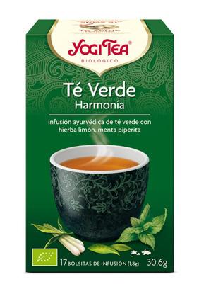 YOGI TEA TE VERDE HARMONIA  BIO 17 BOLSITAS YOGI TEA en Biovegalia