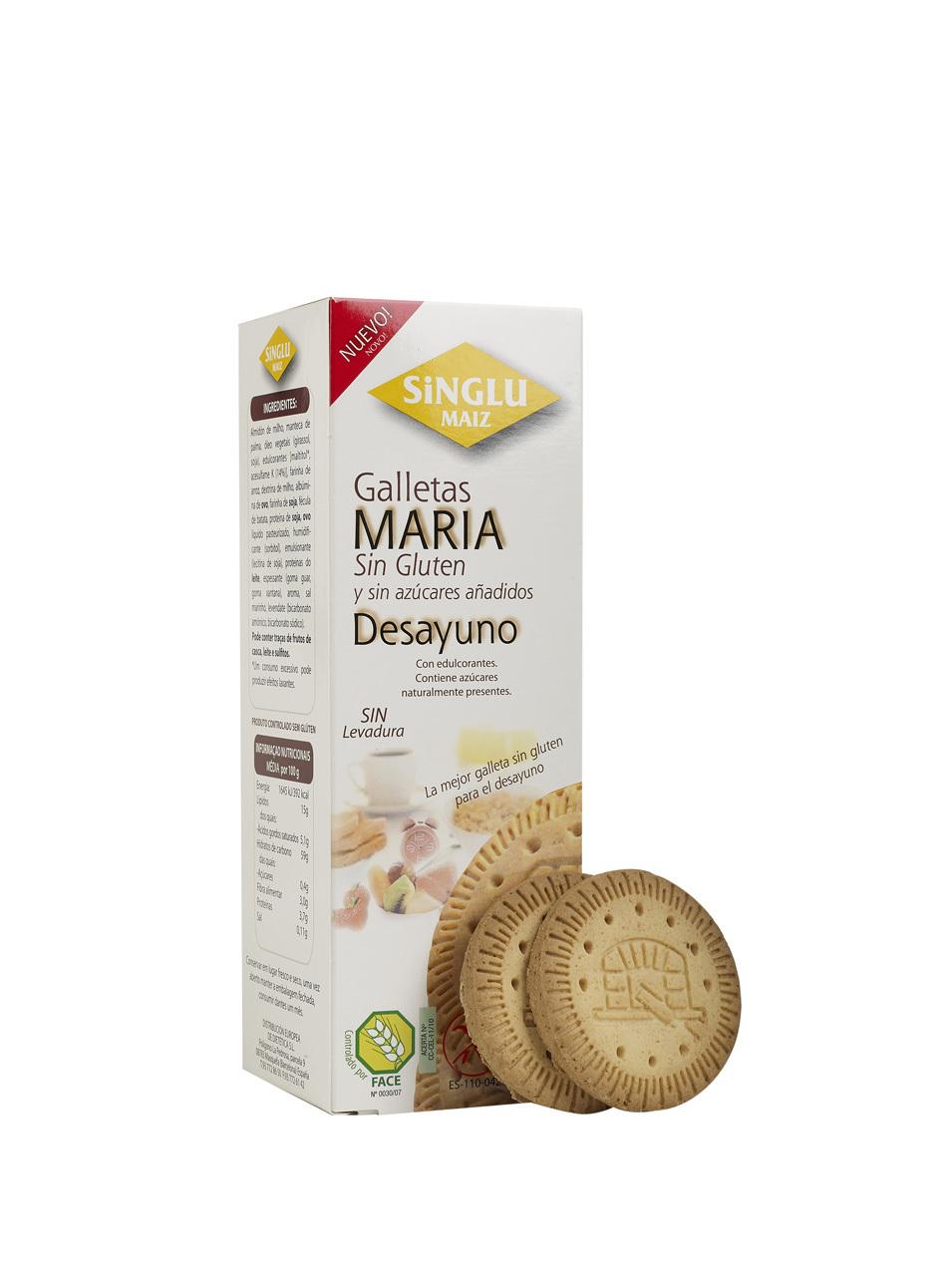 GALLETA MARIA DESAYUNO S/AZ 200GR SINGLU MAIZ en Biovegalia