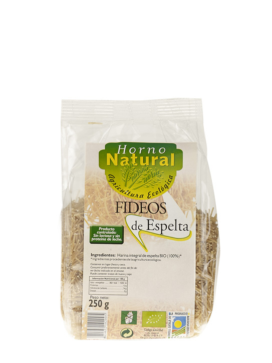 FIDEOS FINO BIO INT ESPELTA 250GR HORNO NATURAL en Biovegalia
