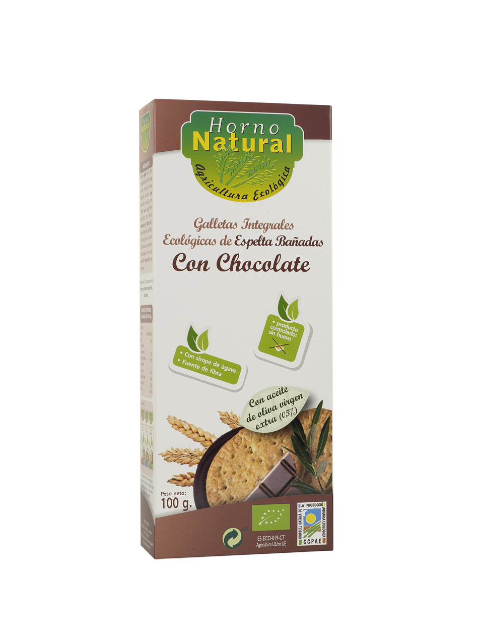GALLETA BIO INT ESPELTA CHOCOLATE 100GR HORNO NATURAL en Biovegalia