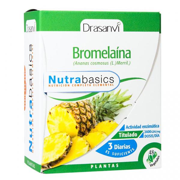 BROMELAINA 48 CAPS NUTRIBASICS DRASANVI en Biovegalia