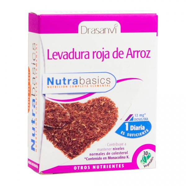 LEVADURA ROJA DE ARROZ  30 CAPS NUTRABASICS DRASANVI en Biovegalia