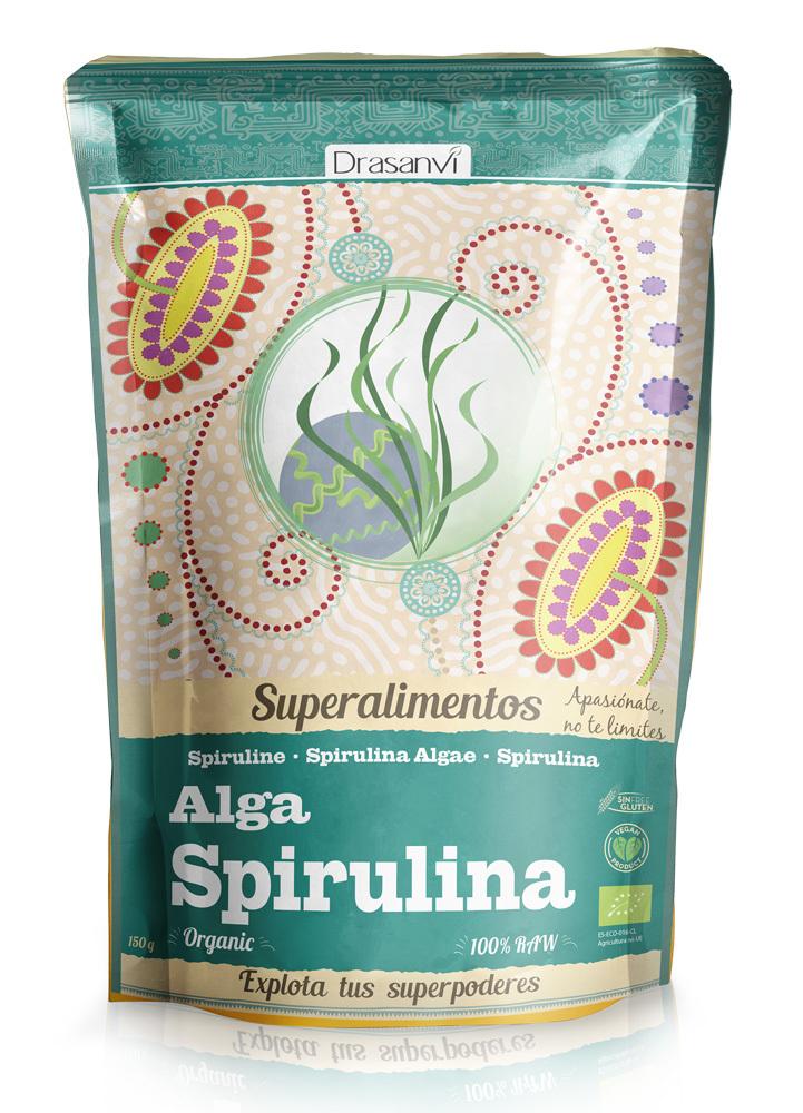 ALGA ESPIRULINA DOYPAC 150GR SUPERALIMEN DRASANVI en Biovegalia