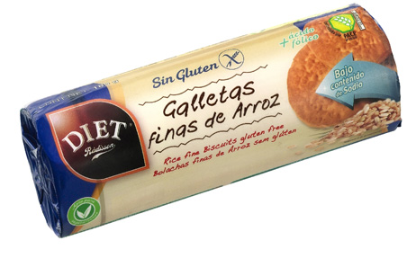 GALLETAS FINAS ARROZ SIN GLUTEN