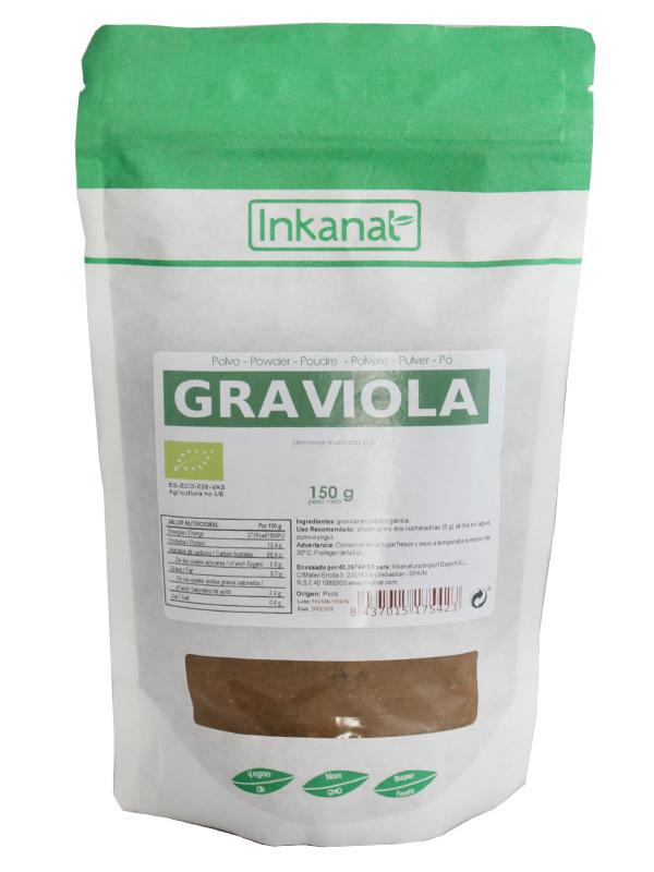 GRAVIOLA POLVO 150GR INKANAT en Biovegalia