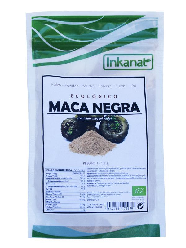 MACA NEGRA EN POLVO  150 G INKANAT en Biovegalia