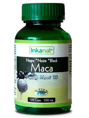MACA NEGRA 100 CAPS  500MG INKANAT en Biovegalia