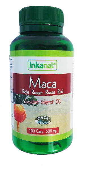 MACA ROJA 100 CAPS  500MG