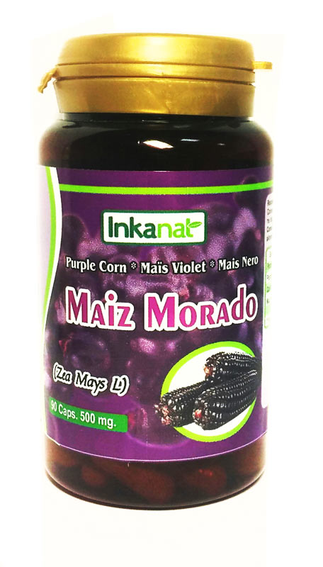 MAIZ MORADO 90 CAPS 500MG
