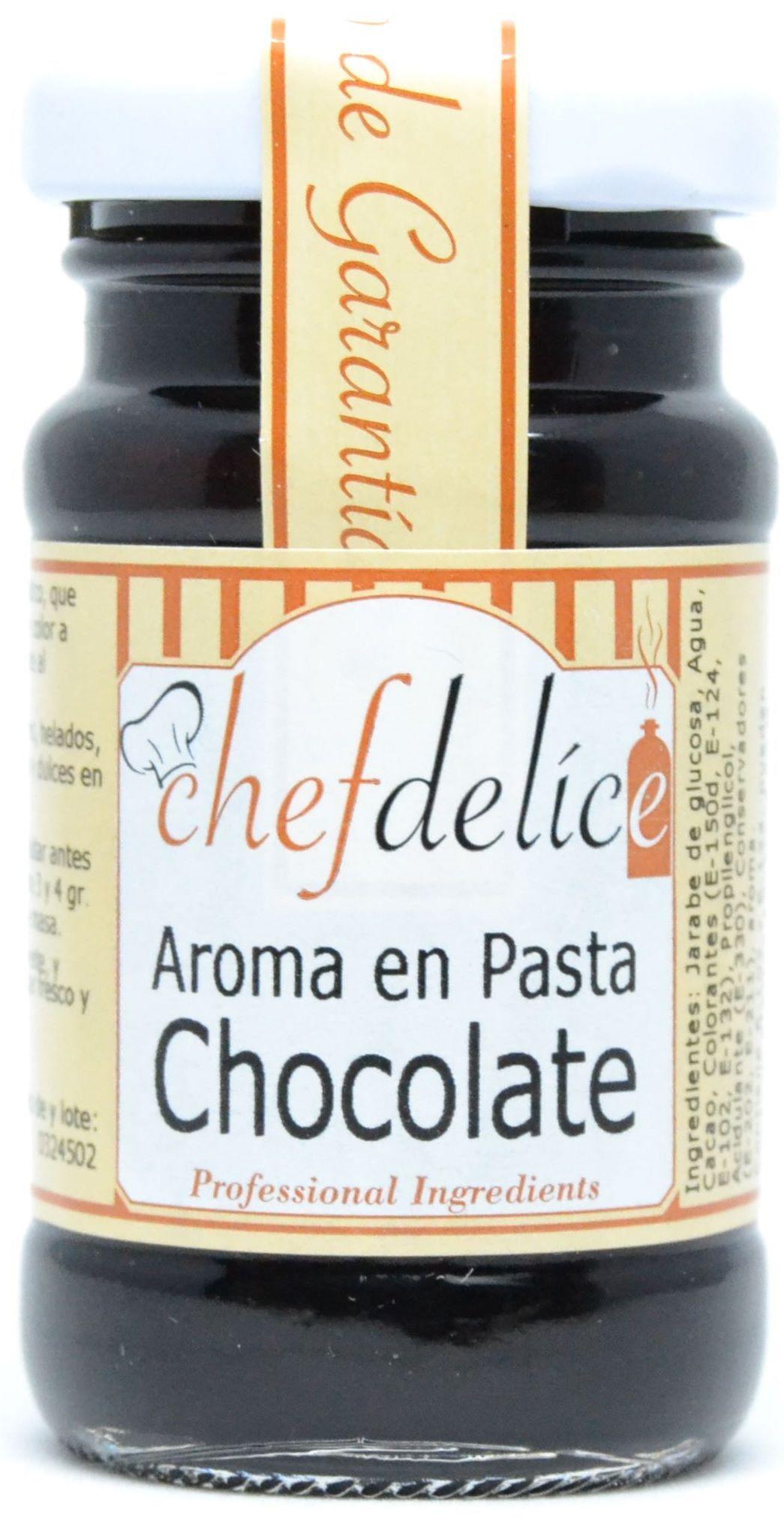 CHOCOLATE AROMA EN PASTA EMUL. 50 G CHEFDELICE en Biovegalia