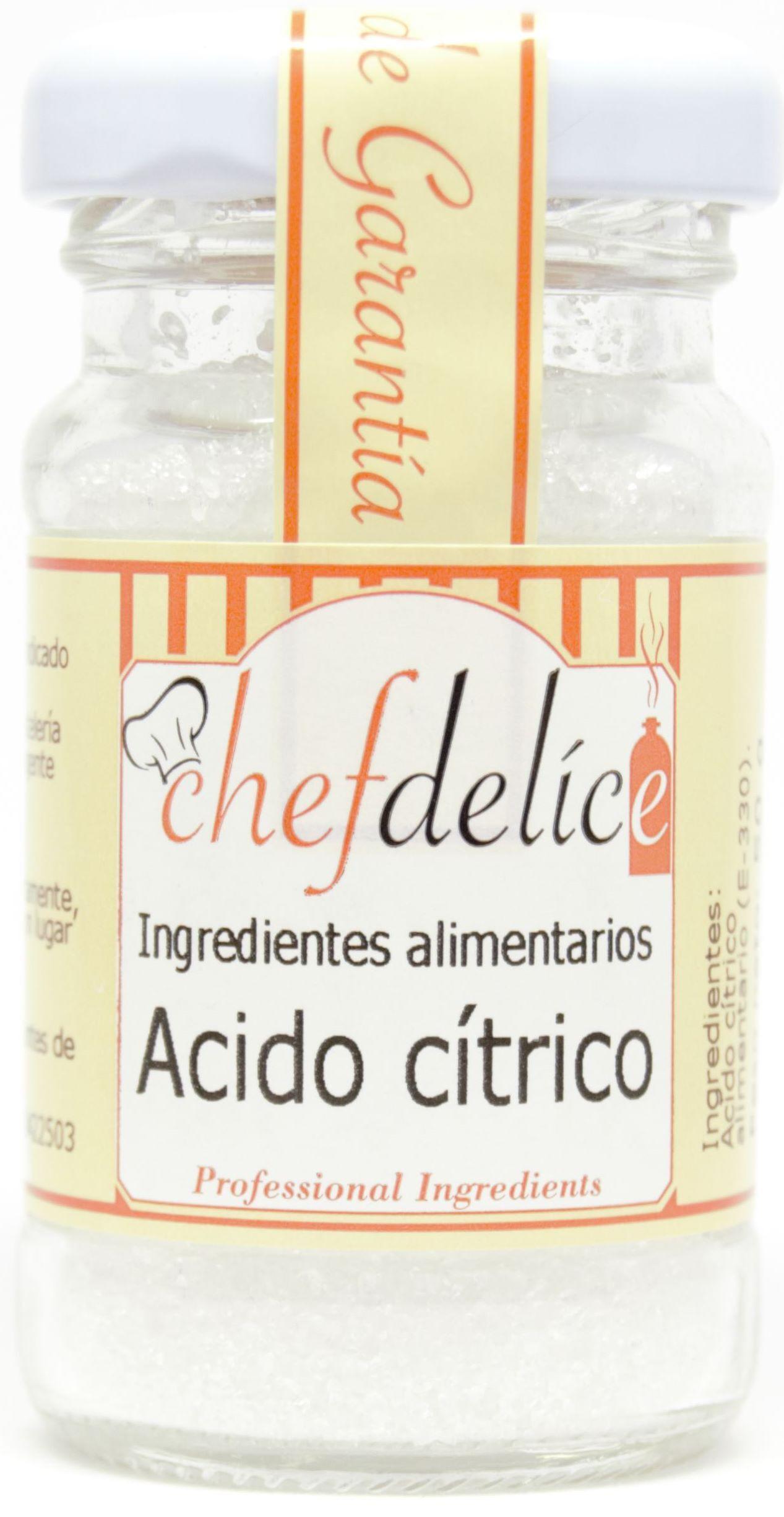 ACIDO CITRICO 50G CHEFDELICE en Biovegalia